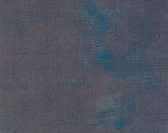 Moda Grunge Basics Excalibur Grey Gray Blue Mottled Background 30150-355 Fabric BTY