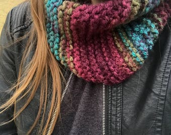 Multi Color Chunky Knit Cowl