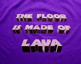 The Floor Is Made of Lava - Parkour T-Shirt - Purple