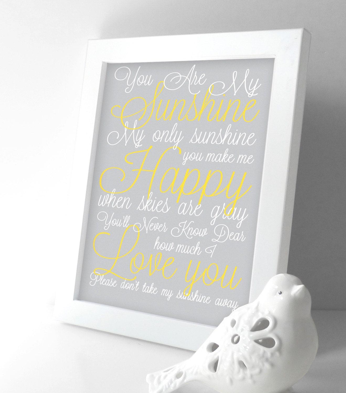 My Baby Girl S Nursery: You Are My Sunshine Nursery Decor Baby Girl Nursery Decor