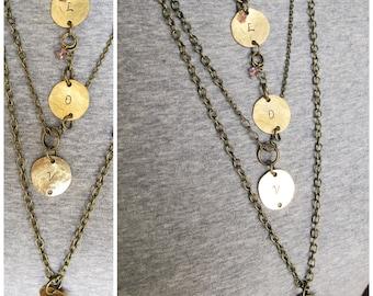 Long Boho Necklace ~ Boho Necklace Long ~ Long Chain Necklace ~ Boho Layered Necklace ~ Long and Layered ~ Long Layered Necklace ~ LOVE
