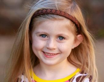 Brown Headband - Dark Brown Headband - Hard Headband - Plastic Headband - Ribbon Woven Headband - Child Toddler Teenager Adult Headband