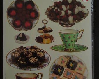 "Santa Claus ""Tea & Desserts"" Die Cut Stickers - CS31 Gifted stickers"