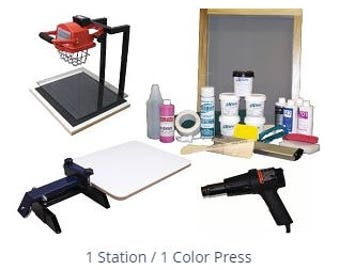 Genesis 1 Color 1 Station T-shirt Screen Printing Press Kit