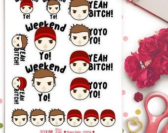 Jesse Pinkman Stickers | Planner Stickers | Breaking Bad Stickers | Walter White | Swear Words Stickers