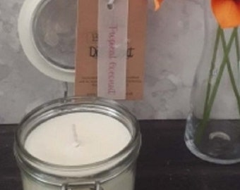 Tropical Coconut Candle in a Jar