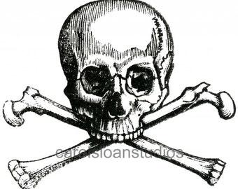 Thermofax Screen Skull and Crossbones