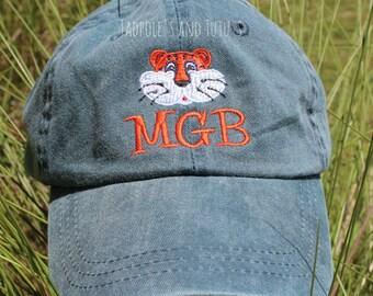 Youth/Toddler Personalized Tiger Mini Baseball Cap, Personalized Child Baseball Cap, Monogram Child Baseball Hat, Adjustable Child Hat