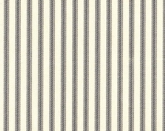 Round Tablecloth Brindle Gray Ticking Stripe