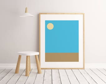 Beach Print, Kids Room Decor, Kids Room Art, Kids Room Wall Art, Kids Room Poster, Printable Wall Art