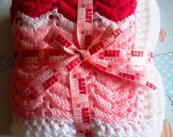 Raspberry Ripple Baby Blanket Quick and Easy