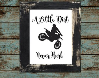 "Baby or Toddler Motocross Dirtbike Nursery - Playroom 8""x10"" - Digital Printable Download"