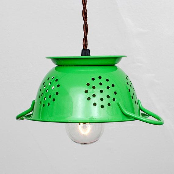 Items Similar To Mini Kitchen Colander Pendant Light