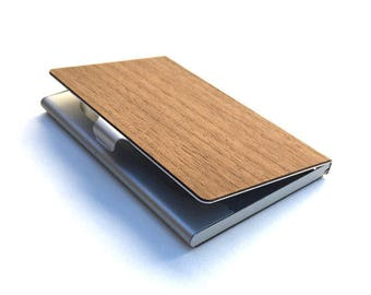 Business card holder etsy timber wood skin business card holder free us shipping reheart Gallery