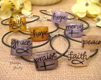 Inspirational Bracelet, Inspirational Jewelry, Christian Jewelry, Religious Jewelry, Hope Jewelry, Peace Jewelry- Vieuxtique Original