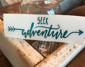 Seek adventure decal