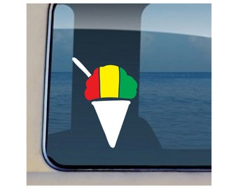 Shave Ice Decal Hawaiian Reggae Icecream Sticker - 90