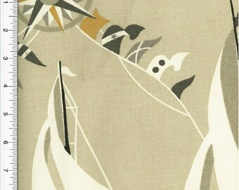 Waverly Set Sail Print Gray Home Decorating Fabric, Fabric By The Yard