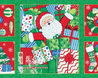 Ho! Ho! Ho! Fabric Blocks PANEL // Moda Christmas Fabric by Deb Strain