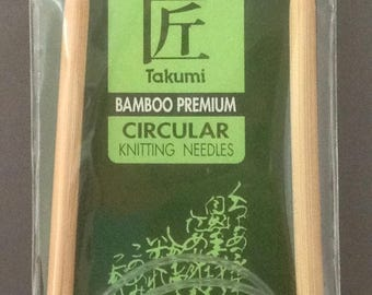 Size US 10.5 Clover Takumi Premium Bamboo Circular Knitting Needles  ~ 6.5mm / 29""