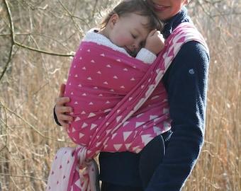 Tri Okenia Rose Woven Wrap for Babywearing