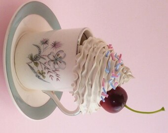 Floral Jewelry Box Teacup And Saucer ,Alice in wonderland Party , Alice In Wonderland Props, Mad Hatter Tea Party , Tea Party Centerpiece