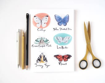 Butterfly A5 Lined Notebook