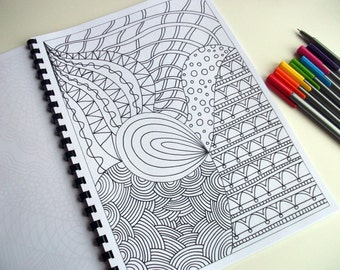 Printable Coloring Page, Zentangle Inspired Coloring Pattern, Page 20