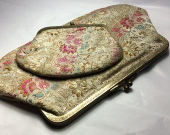 Vintage clutch & coin purse set