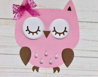 Owl Cake Topper – Baby Shower Cake Topper – Smash Cake Topper – Owl Baby Shower – Owl Decoration - Baby Shower Decorations - Baby Owl Topper