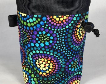 Chalk bag, Rainbow Swirl, Climbing Chalk Bag, Chalk bag Climbing, Rock Climbing Chalk bag, Climbing Gear, Rainbow Chalk Bag, Colorful