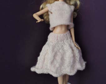 Clothes Barbie set flared skirt and sleeveless sweater