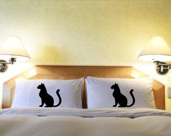 Cat Lover Gifts - Cat Pillowcases - Feline By Live Love Frolic - Printed Pillow Cover