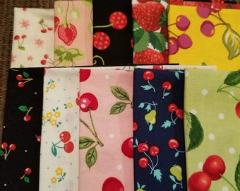 Fat eighth bundle of berry prints
