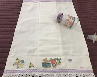Baby diapers / Personalized hand embroidery gift / New born diapers / Cross-stitch