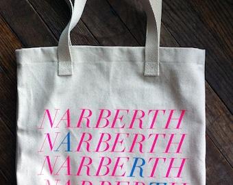 Narberth Neon Canvas Tote Bag
