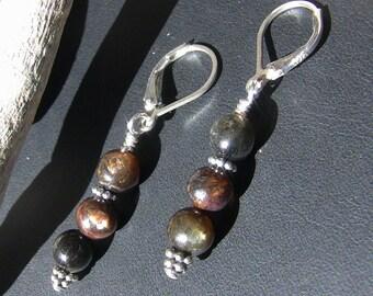 Golden Brown Mica Earrings