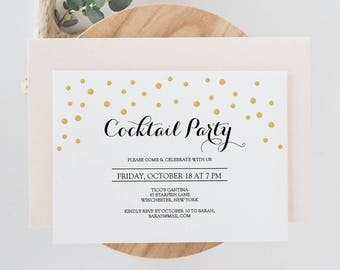 Cocktail Party Invitations Etsy - Cocktail party invitation templates