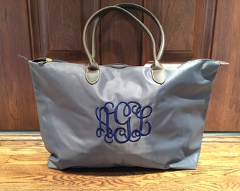 MONOGRAMMED Champ Large Tote - Personalized Ladies Tote - Monogrammed Luggage - Nylon Tote - Travel Tote - Carryall Bag - Day Tote