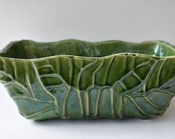Planter UPCO Green Ceramic for Plants or Decor Vintage
