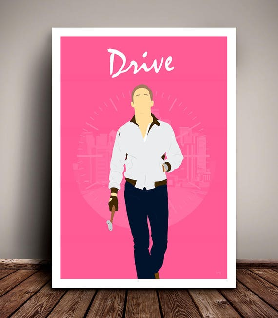 Drive // Ryan Gosling // Minimalist Movie Poster // Unique Art Print