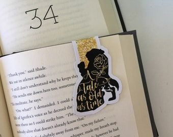 A Tale as old as Time Magnetic Bookmark // Beauty and the Beast