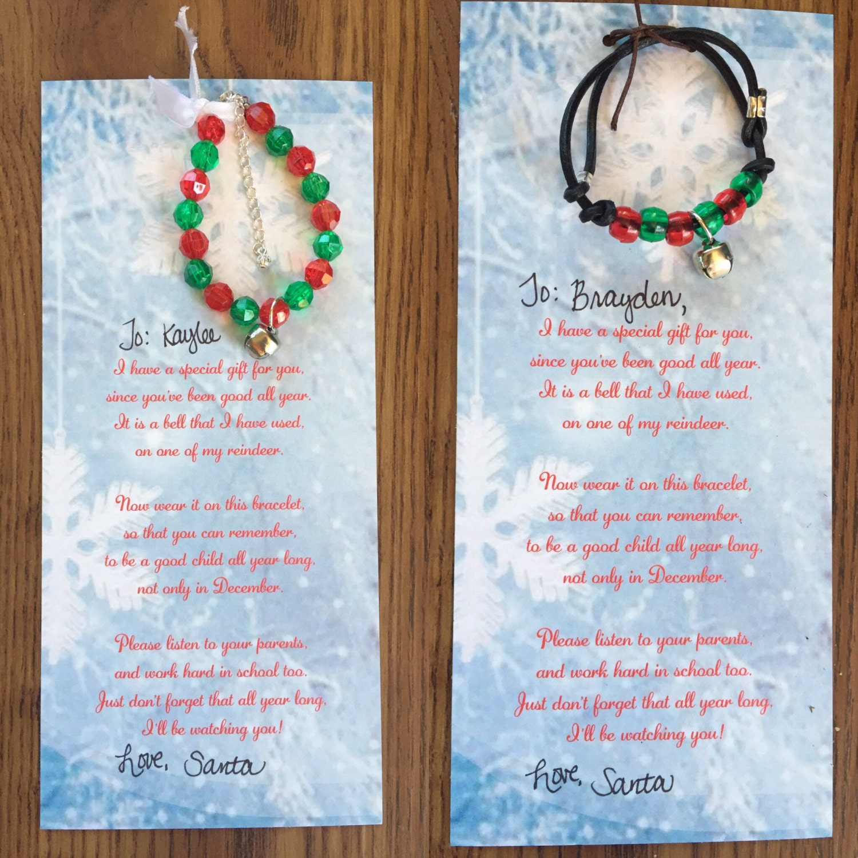Letter from santa christmas bracelet elf letter stocking zoom spiritdancerdesigns Gallery