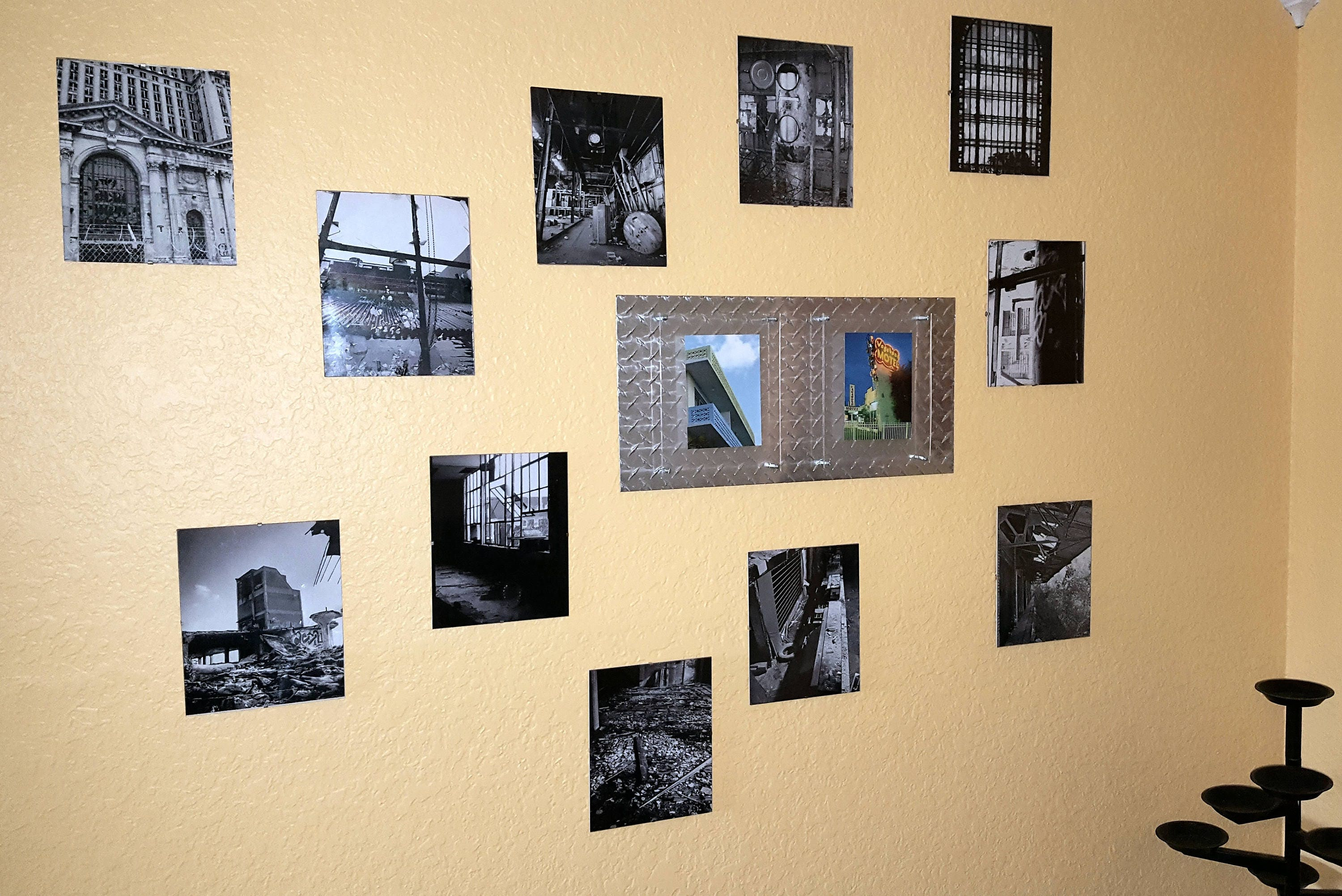 Diamond plate photo frame. Double mount for 2 photos with floating ...