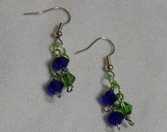 Seattle Seahawks Cluster Earrings