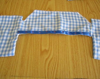 Blue Check Browband Cover
