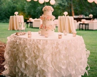 Superb Ruffle Tablecloth, Curly Willow Tablecloth,