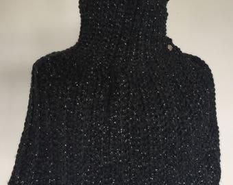 Elegant, Chunky Crochet Caplet - Constellation