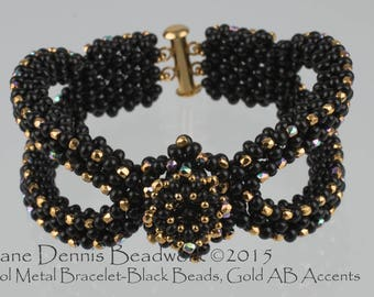 Kit for the Cool Metal Bracelet in Black Metal Beads