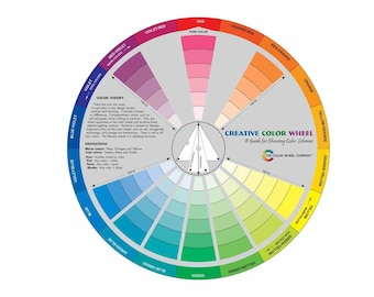 Large Creative Color Wheel Mixing Guide Great For Matching Colors In Painting Beading